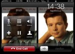 Rickrolled iPhone