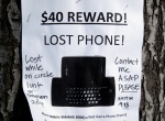 Lost phone reward