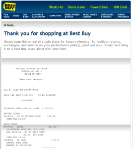 Best Buy Receipt Scam
